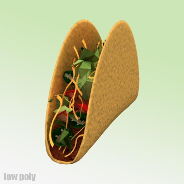 Low Poly Taco