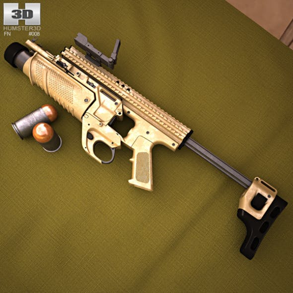 FN Scar MK13 EGLM - 3DOcean Item for Sale