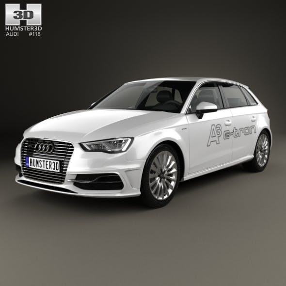 Audi A3 Sportback e-tron 2013 - 3DOcean Item for Sale