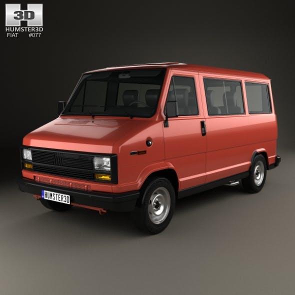 Fiat Ducato Passenger Van 1981 - 3DOcean Item for Sale