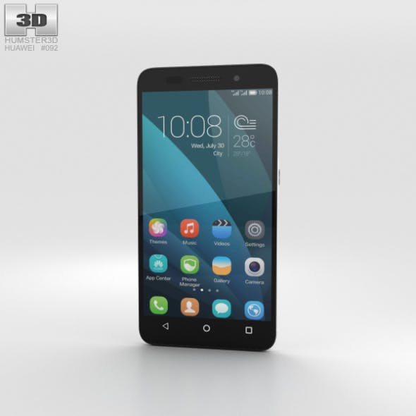 Huawei Honor 4X White - 3DOcean Item for Sale