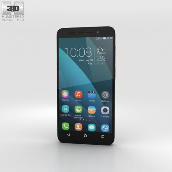Huawei Honor 4X Black - 3DOcean Item for Sale