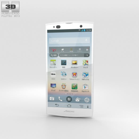 Fujitsu Arrows A 202F White - 3DOcean Item for Sale