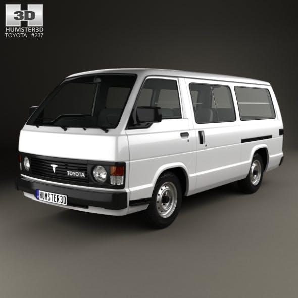 Toyota Hiace Passenger Van 1982 - 3DOcean Item for Sale