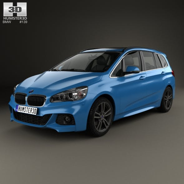 BMW 2 Series Gran Tourer (F46) M Sport Package 2015 - 3DOcean Item for Sale