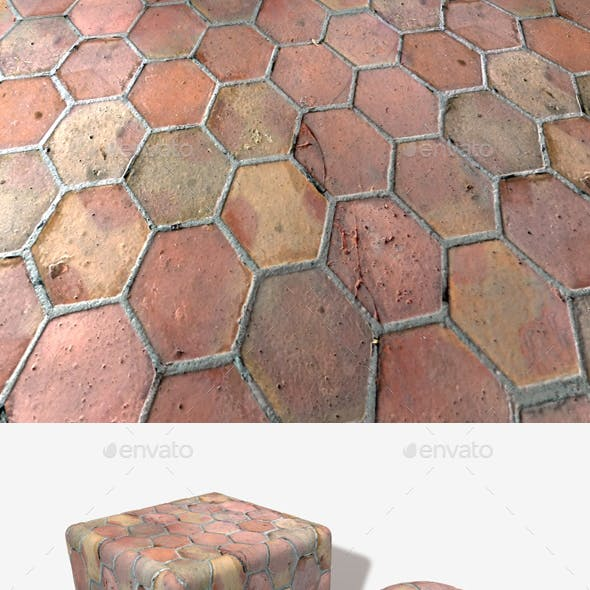 Old Hexagon Floor Tiles Seamless Texture