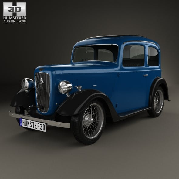 Austin 7 Ruby 1934 - 3DOcean Item for Sale