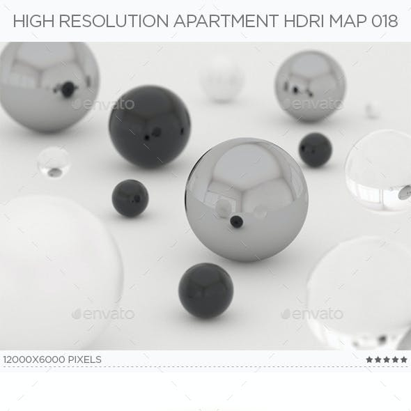 High Resolution Apartment HDRi Map 018
