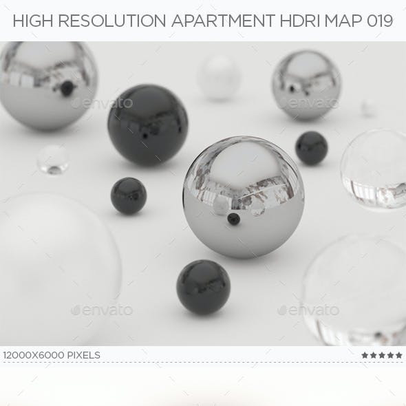 High Resolution Apartment HDRi Map 019