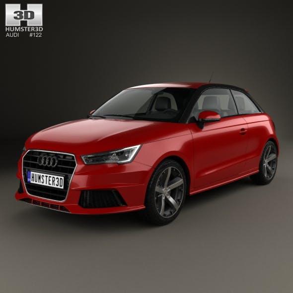 Audi A1 3-door 2015 - 3DOcean Item for Sale