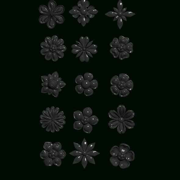 flower ornament1 - 3DOcean Item for Sale