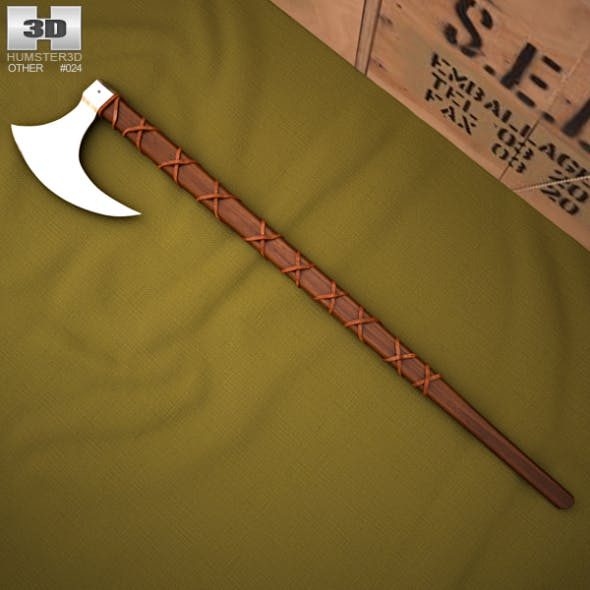 Norse Viking Axe - 3DOcean Item for Sale