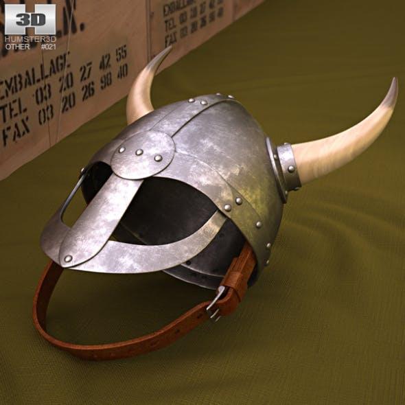 Viking Helmet With Horns - 3DOcean Item for Sale