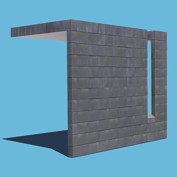 Metal Tiled Wall - 3DOcean Item for Sale