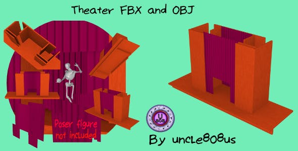 Theater Stage FBX and OBJ - 3DOcean Item for Sale