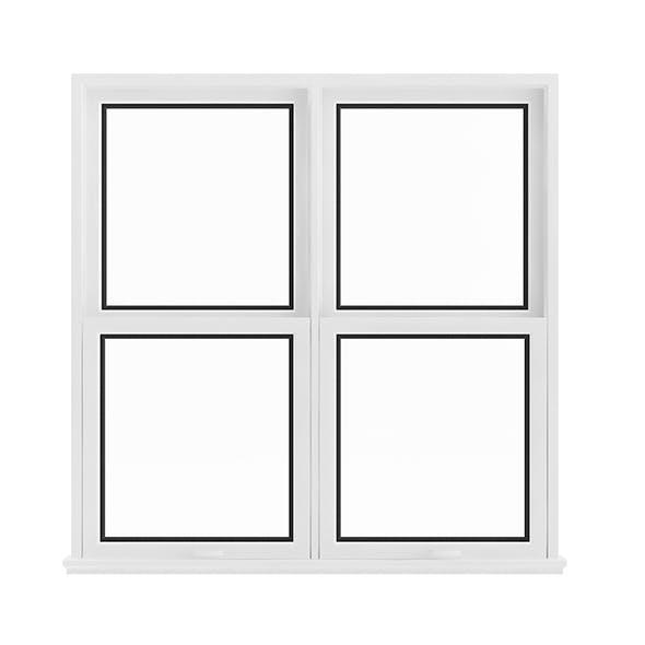 White Window (143.5 x 140 cm) - 3DOcean Item for Sale