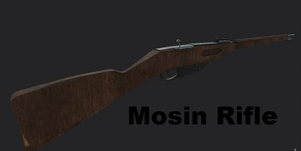 Mosin Rifle - 3DOcean Item for Sale