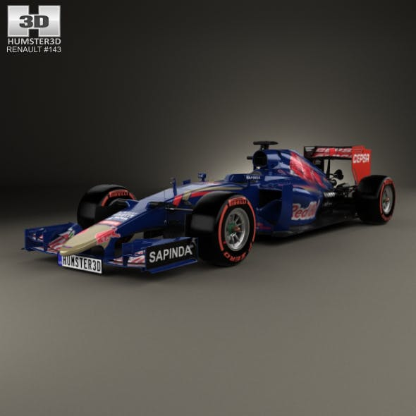 Renault STR10 Toro Rosso 2015 - 3DOcean Item for Sale