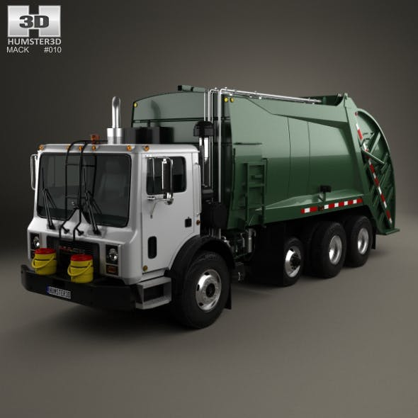 Mack TerraPro Garbage Truck 2007 - 3DOcean Item for Sale