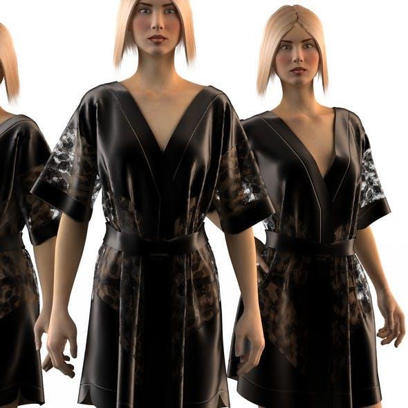 Silk female coat 3 - 3DOcean Item for Sale