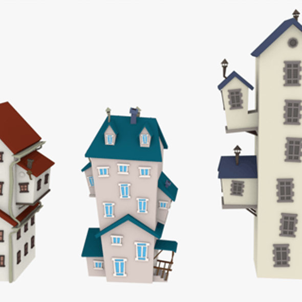 LowPoly Cartoon Houses Pack