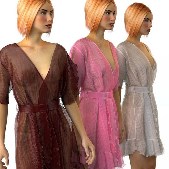 Set of womens silk robes 3