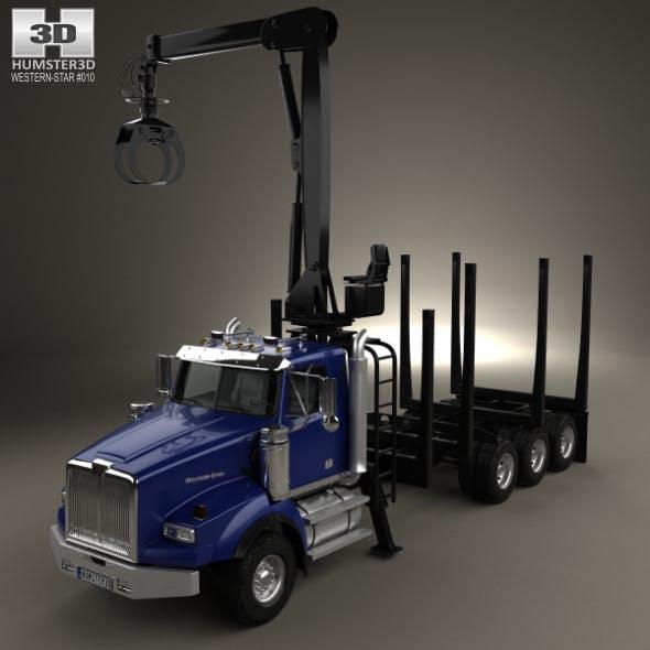 Western Star 4900 Logging Truck 2008 - 3DOcean Item for Sale