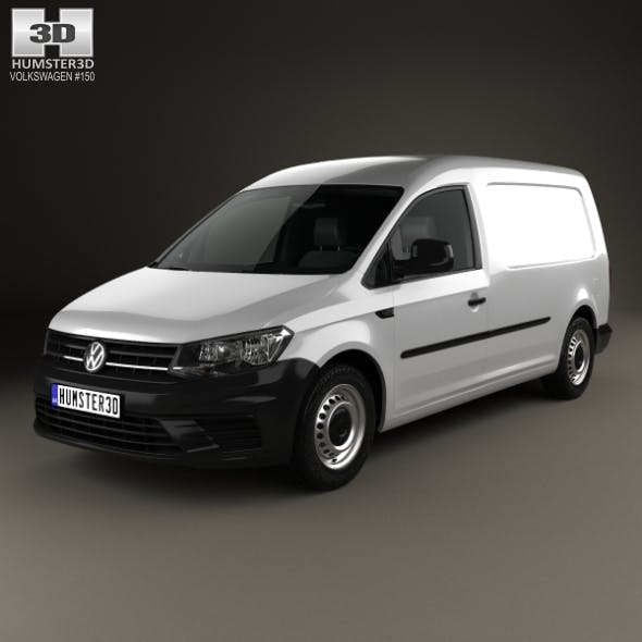 Volkswagen Caddy Maxi Panel Van 2015 - 3DOcean Item for Sale