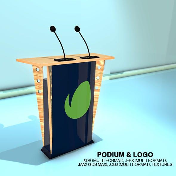 Podium & Logo - 3DOcean Item for Sale