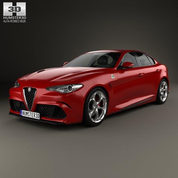 Alfa Romeo Giulia Quadrifoglio 2016 - 3DOcean Item for Sale