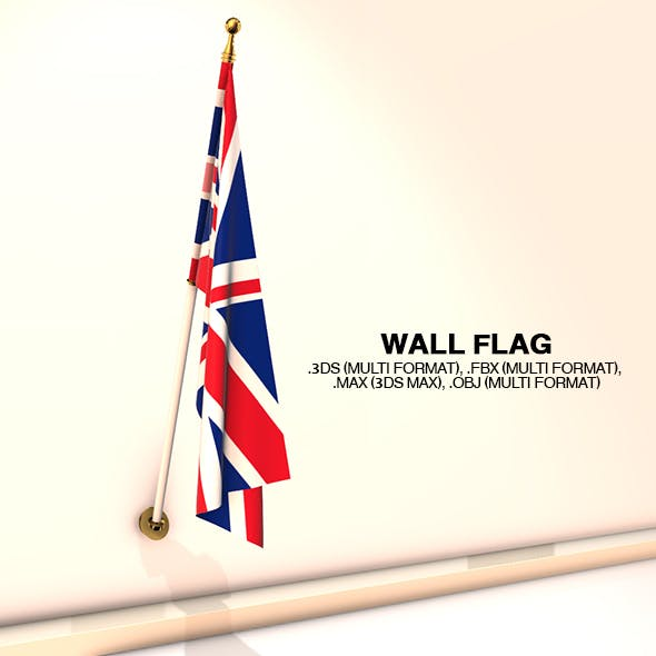 Wall Flag - 3DOcean Item for Sale