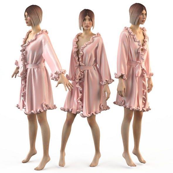 Set of womens silk robes 4