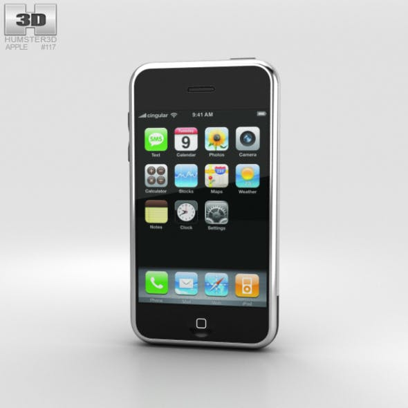 Apple iPhone (1st gen) Black - 3DOcean Item for Sale