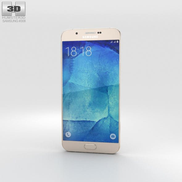 Samsung Galaxy A8 Champagne Gold - 3DOcean Item for Sale