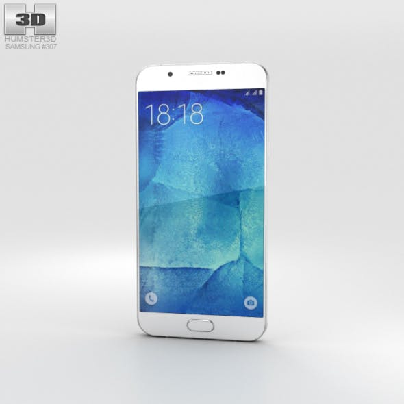 Samsung Galaxy A8 Pearl White - 3DOcean Item for Sale