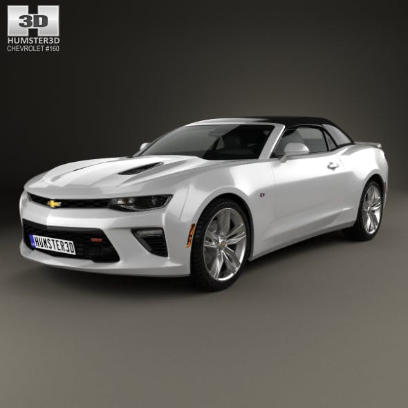 Chevrolet Camaro SS convertible 2016 - 3DOcean Item for Sale