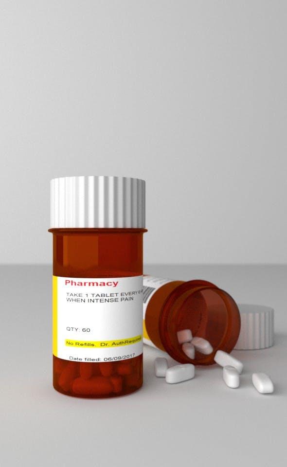 Drug Bottle - 3DOcean Item for Sale