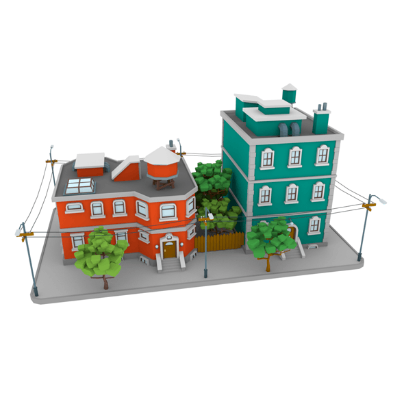 LowPoly City Block01