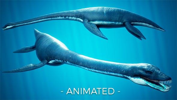 Ocean Plesiosaur Elasmosaurus - 3DOcean Item for Sale