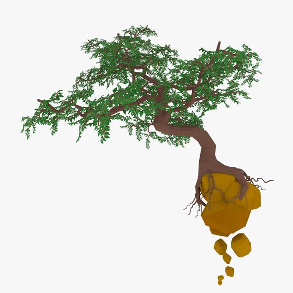 Float Cartoon Tree 3D model