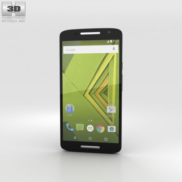 Motorola Moto X Play Black - 3DOcean Item for Sale