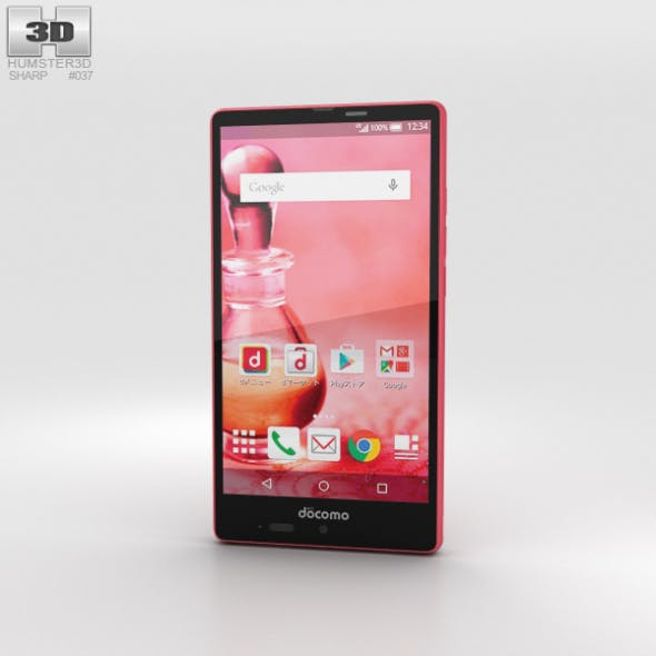 Sharp Aquos Ever SH-04G Pink - 3DOcean Item for Sale
