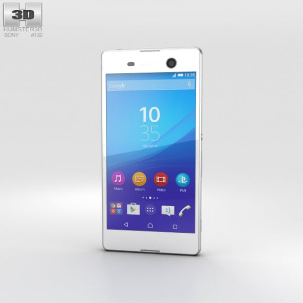 Sony Xperia M5 White - 3DOcean Item for Sale