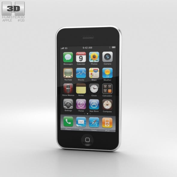 Apple iPhone 3GS White - 3DOcean Item for Sale