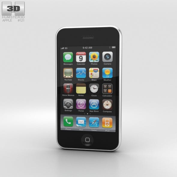 Apple iPhone 3GS Black - 3DOcean Item for Sale