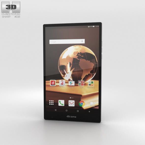 Sharp Aquos Pad SH-05G Black - 3DOcean Item for Sale