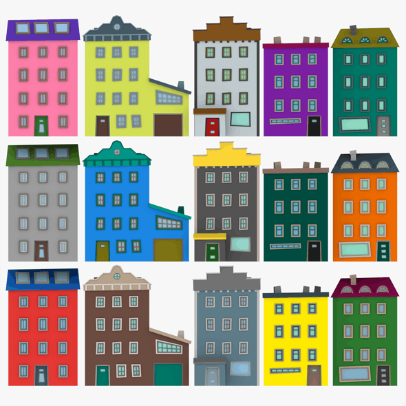 LowPoly Houses Pack03