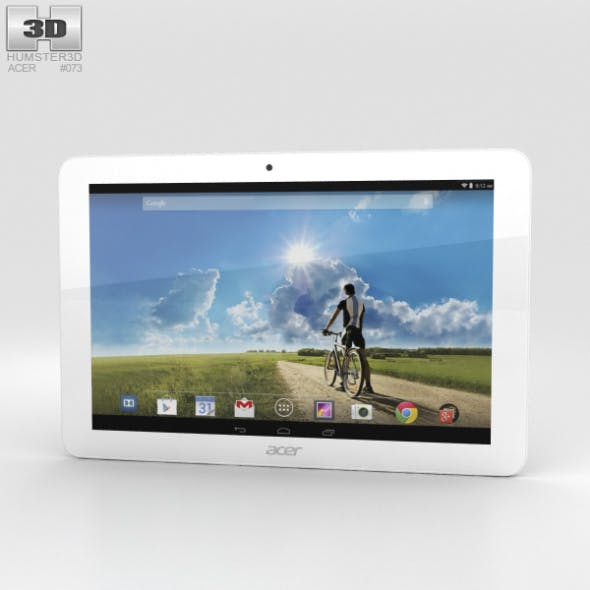 Acer Iconia Tab A3-A20FHD White - 3DOcean Item for Sale