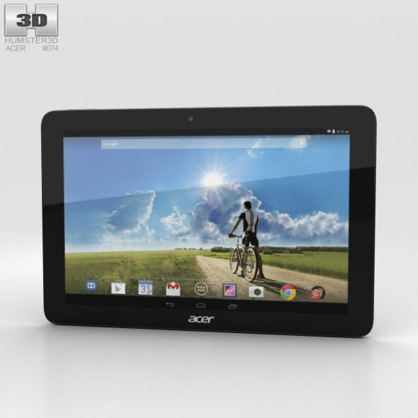 Acer Iconia Tab A3-A20FHD Black - 3DOcean Item for Sale