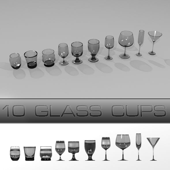 Glass Cups - 3DOcean Item for Sale